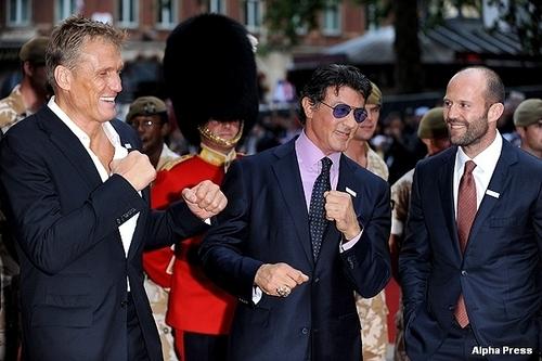 Dolph Lundgren, Sylvester Stallone & Jason Statham