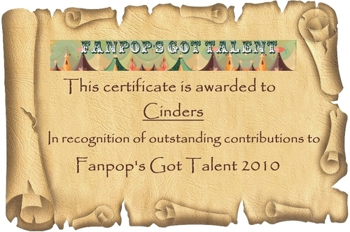 fanpop's got talent wallpaper titled FGT 2010 Certificates – Cinders