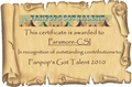 FGT 2010 Certificates – Paramour-CSI - fanpops-got-talent fan art