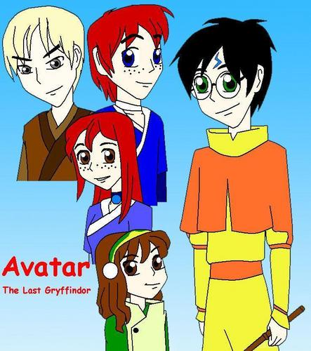 Avatar The Last Airbender kertas dinding entitled Harry potter Avatar style
