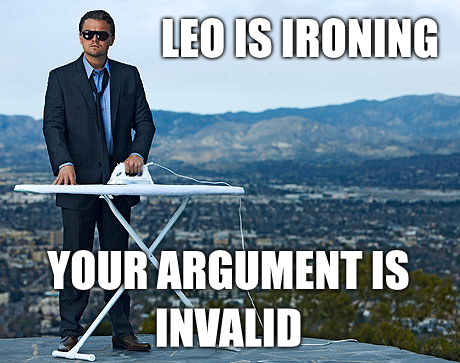 Leonardo DiCaprio wallpaper entitled He is ironing! Meme...