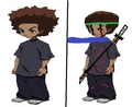 Huey now and later - the-boondocks fan art