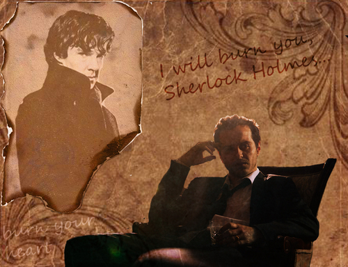 Sherlock on BBC One wallpaper titled I will burn you wallpaper