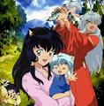 InuYasha, Kagome and their kids - inuyasha-and-kagome-forever photo