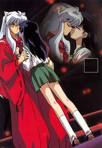 InuYasha and Kagome Kiss in 2nd movie