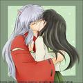 InuYasha and Kagome together - inuyasha-and-kagome-forever photo