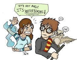 Its not magic its waterbending!!!!!!!!