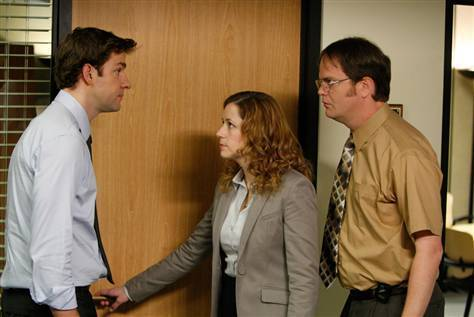 Jim, Pam and Dwight