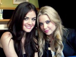 Lucy Hale & Ashley Benson wallpaper entitled Lucy & Ashley.