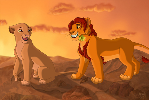 The Lion King kertas dinding titled Mufasa and Sarabi ♥