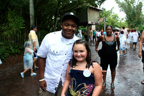 My daughter and Kyle at Disney's Animal Kingdom on 8/9/10