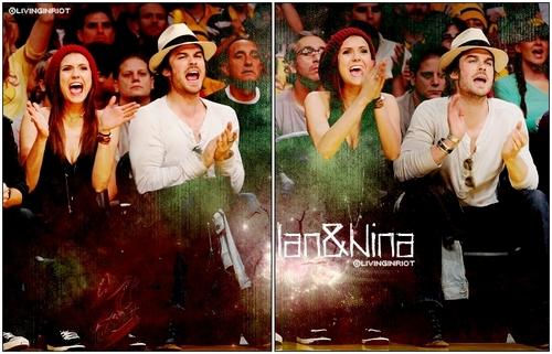 Damon&Elena and Ian&Nina wallpaper titled Nina&Ian