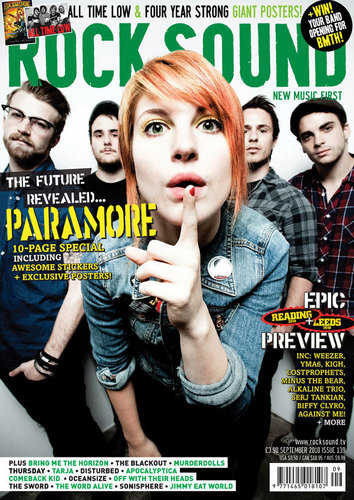 Paramore on the cover of Rock Sound (September 2010)