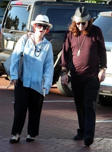Sharon And Ozzy Osbourne Shopping In Malibu