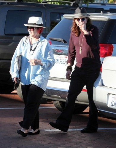 Sharon And Ozzy Osbourne Shopping In Malibu