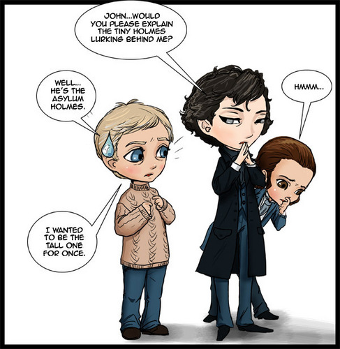 Sherlock and Asylum Sherlock - sherlock-on-bbc-one Fan Art