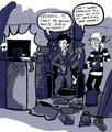Sherlock and John Playing Guitar Hero