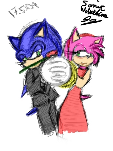 Sonic and Amy Dancing
