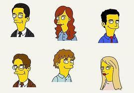 The Office wallpaper titled The Office characters Simpson style
