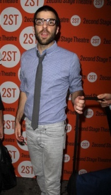 """Zachary Quinto - """"Trust"""" Off-Broadway Opening Night 13/08/10"""