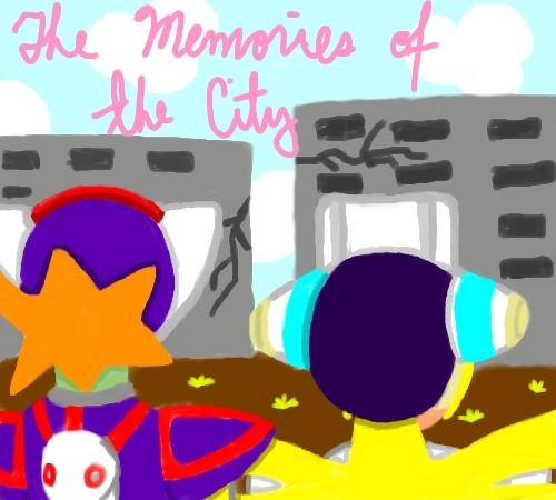 Megaman দেওয়ালপত্র titled cinnamon & axl The_Memories_of_the_City_by_Irismightlikepink.png