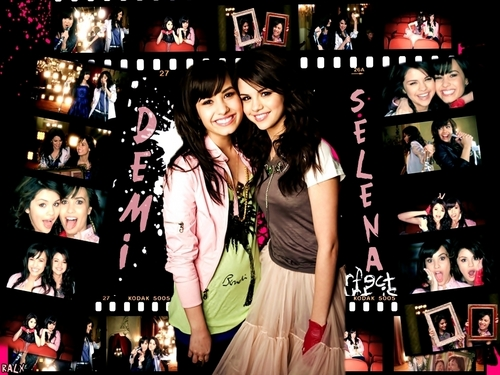 selena gomez dan demi lovato wallpaper titled demi and selena