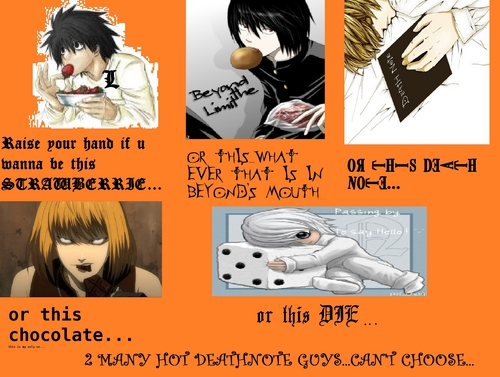 hot deathnote guys...(i forgot matt...)