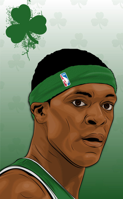Rajon Rondo wallpaper called lucky man :)