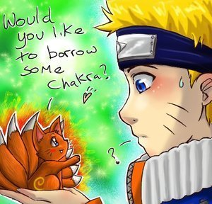 Naruto and kyubi Chibi