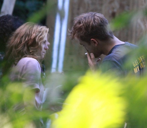 picture of Kristen on the set of OTR
