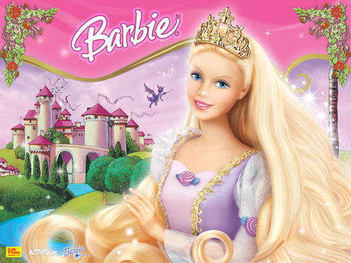 Barbie as Rapunzel Hintergrund called rapunzel