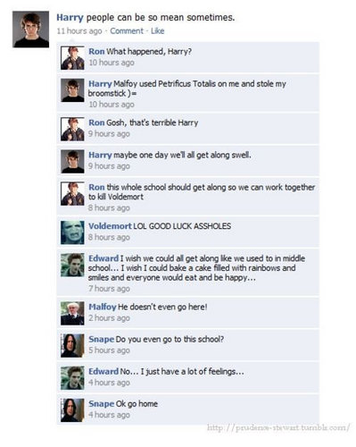 twilight/harry potter funny pics
