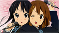 yui &amp; mio - k-on wallpaper
