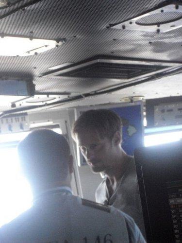 Alexander Skarsgard on board the USS Ronald Reagan (July 2010)