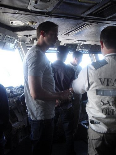 Alexander Skarsgård wallpaper titled Alexander Skarsgard on board the USS Ronald Reagan (July 2010)