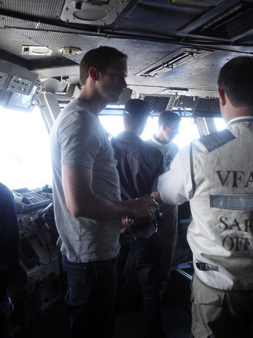 Alexander Skarsgard on board the USS Ronald Reagan (July 2010)