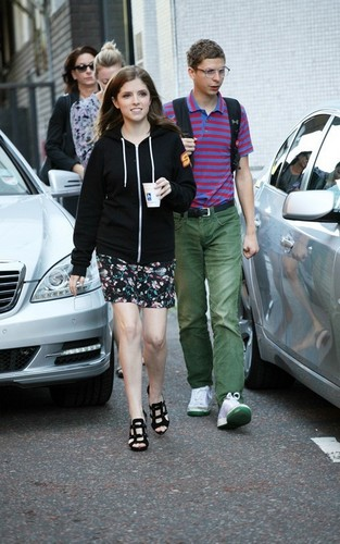 Anna in London with Michael Cera