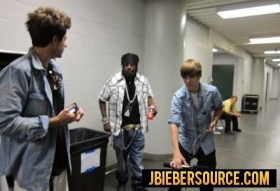 Backstage on tour
