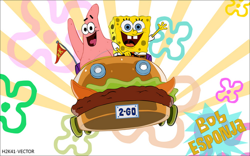 polyvore clippingg♥ wallpaper titled Bob Esponja