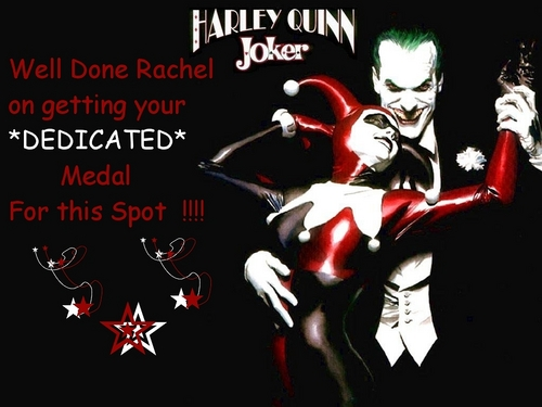 CONGRATULATIONS RACHEL ON GETTING YOUR *DEDICATED* MEDAL ON THIS SPOT , WOOP!! WOOP!!