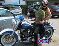 Carly & Spencer on motorcycle