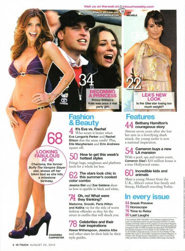 Charisma Carpenter In Touch Weekly