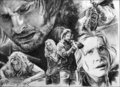 Comic in B&amp;W - sawyer-and-juliet fan art