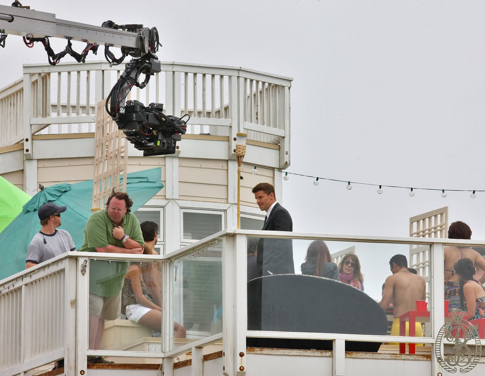 David on the Set 16 August 2010