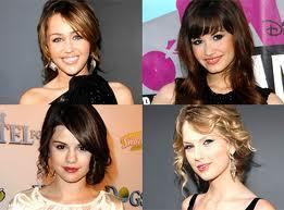 Demi, Miley, Taylor, Selena