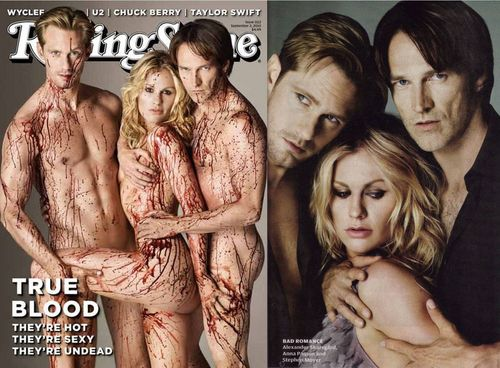 True Blood karatasi la kupamba ukuta entitled Eric, Bill and Soocki in Rolling Stone