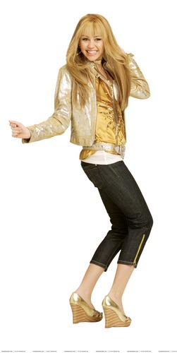 Hannah Montana 2 season Photoshoot (Golden Outfit) High Quality