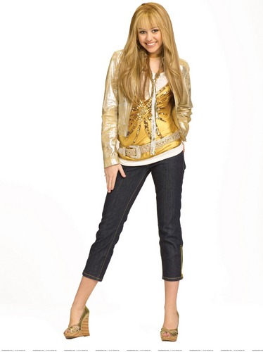 Hannah Montana wallpaper entitled Hannah Montana 2 season Photoshoot (Golden Outfit) High Quality