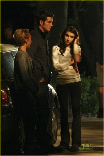 Hayden on set Scream 4