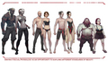 Humans, Elves, Dwarves, Qunari concept art - dragon-age-origins photo